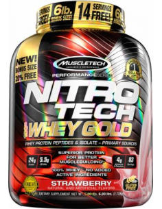 MuscleTech Nitro Tech 100% Whey Gold 2720 g