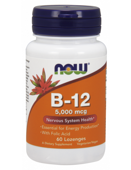 NOW Vitamin B-12 5000 mcg with Folic Acid