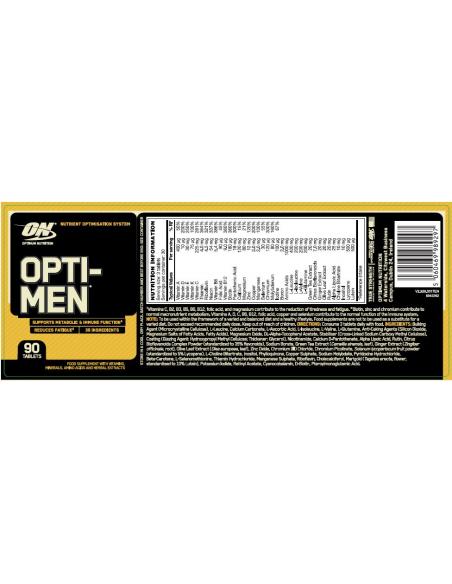 Optimum Nutrition Opti-Men (GB) 90Tablets