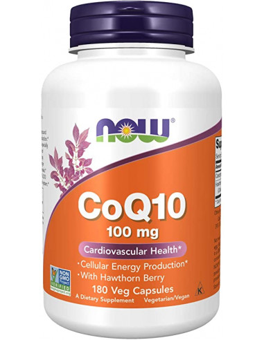 NOW CoQ10 100 mg with Hawthorn Berry