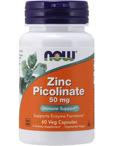 NOW Zinc Picolinate 50 mg 60 vegan