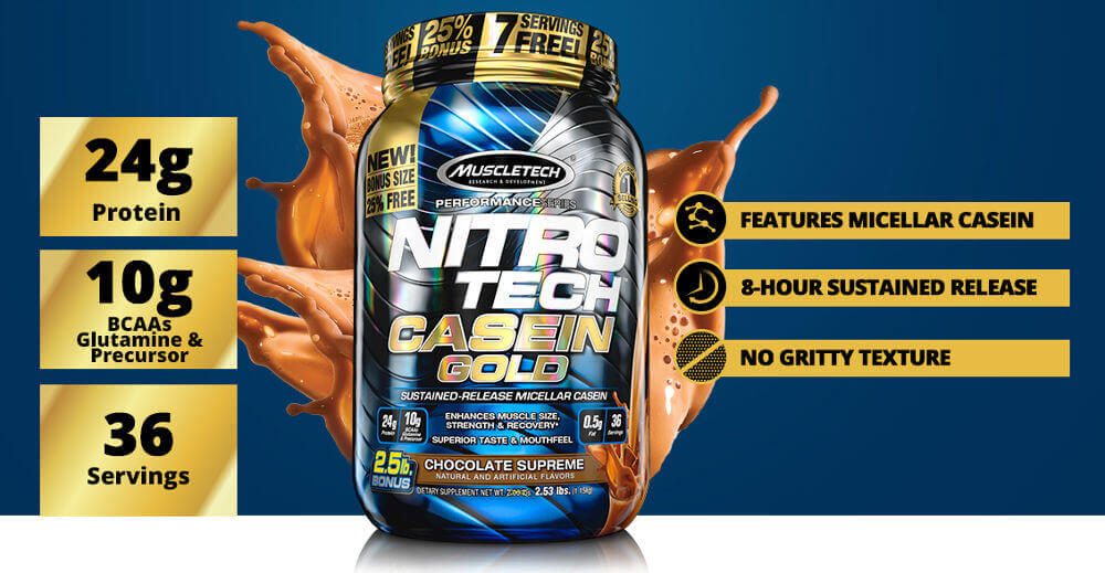 MuscleTech Nitro Tech Casein Gold