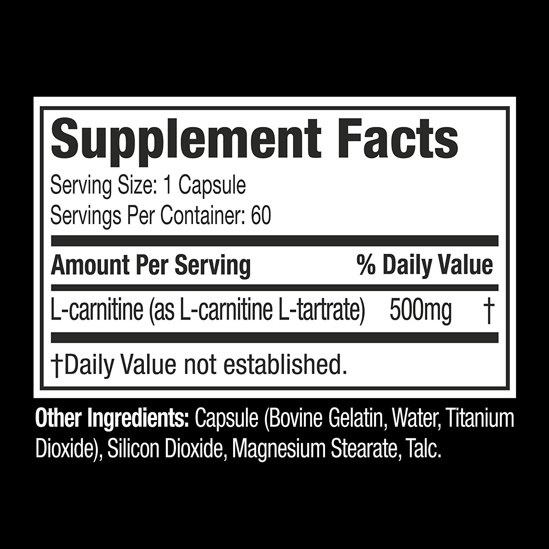 MuscleTech Platinum L-Carnitne 500 mg