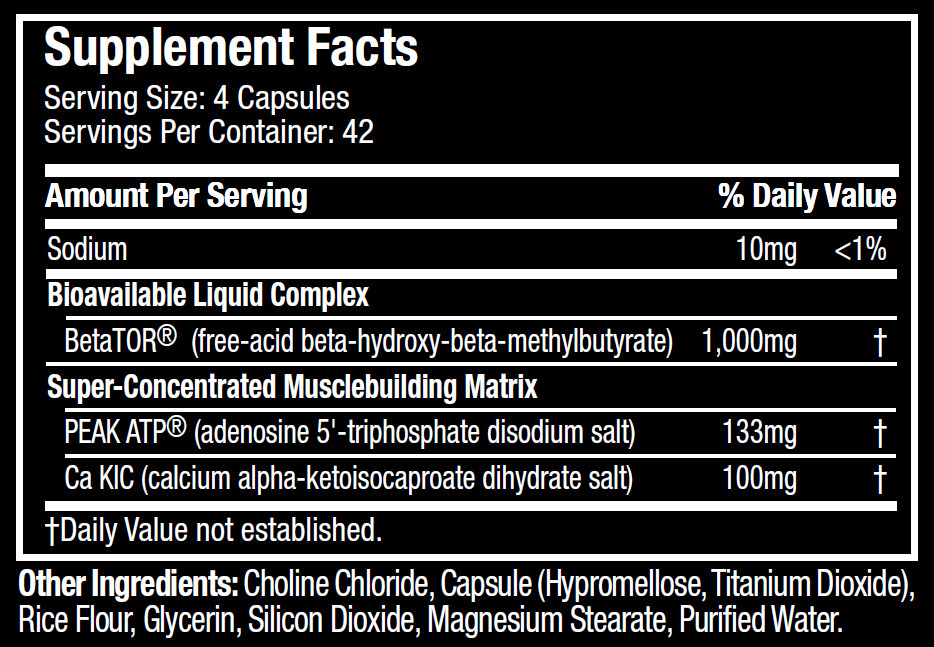 MuscleTech Sx-7 Revoluton Clear Muscle facts