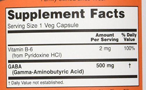 NOW GABA 500 mg 100 kapszula