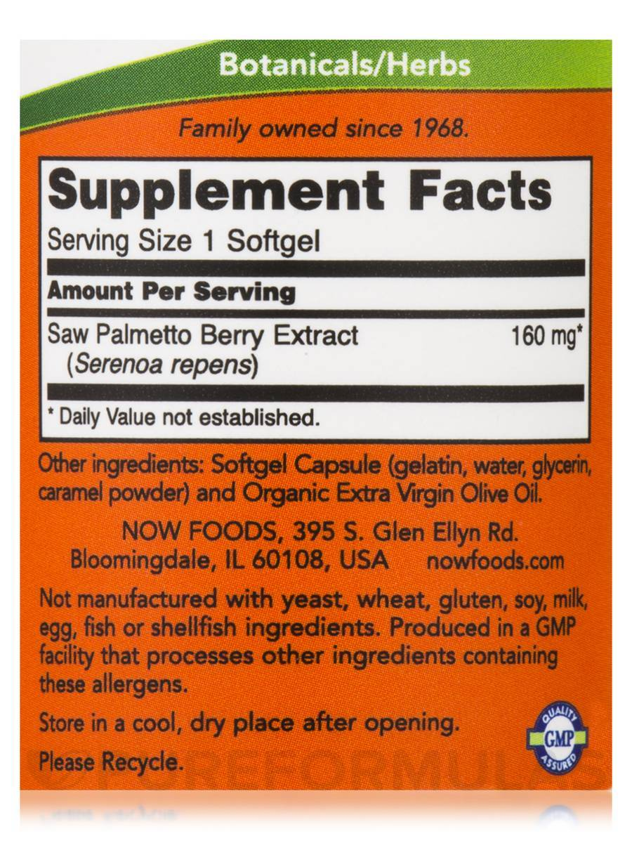 NOW Saw Palmetto Extract 160 mg